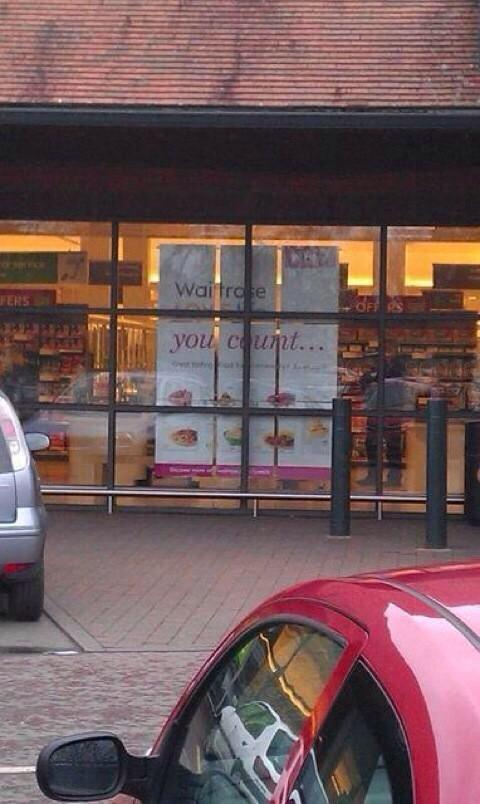 Went to Waitrose, but didn't go in (after seeing this sign) http://t.co/LIbhdI0Vex