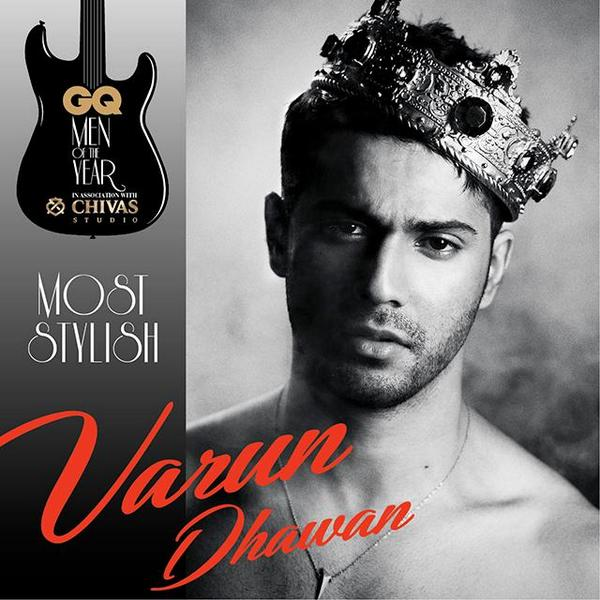 Varun Dhawan takes Most Stylish Man Of The Year with a nod to WWE's The Rock. Bring It! #GQAwards http://t.co/8tpcWltrHb