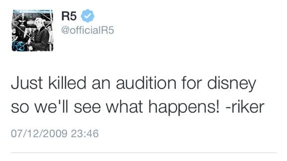 RT @R5FAMILY16: Wouldn't it be awkward if Riker  auditioned for Austin and Ally for Austin but Ross got it http://t.co/2P1EZIBkKa