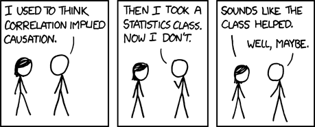 A great cartoon for stats and research methods classes from @xkcd: http://t.co/5aqYWoHdcZ http://t.co/Tyz6lE2xqn
