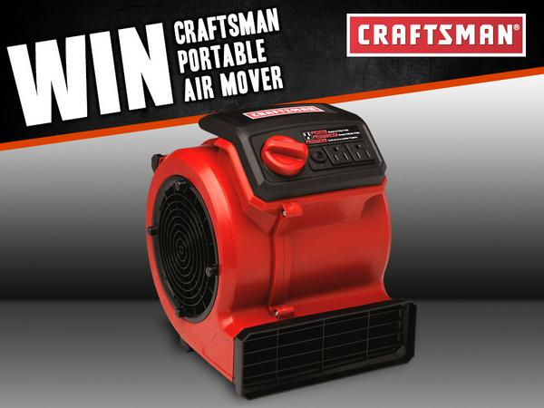 Retweet for a chance to WIN a @Craftsman Portable Air Mover!  Enter at http://t.co/7jZnMhXOT7 & please share! http://t.co/xirTY5YnTF