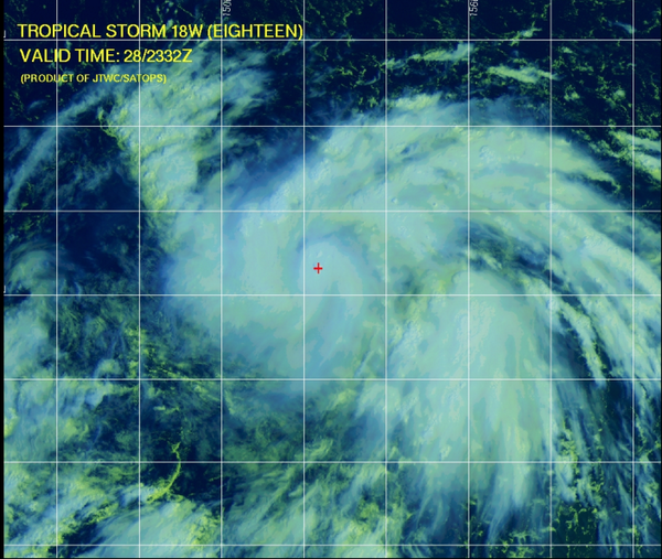 ...TROPICAL STORM 18W STRENGTHENING AND MOVING TOWARD THE  NORTHERN MARIANA ISLANDS... http://t.co/ACuQuigs16 http://t.co/rXR6hZyY5r