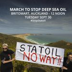 TODAY: March to #StopDeepSeaOil http://t.co/wTFcqoFnLs & #StopStatoil http://t.co/c3NNlOKz3M via @greenpeacenz ⊕http://t.co/yzw8kKdwdC