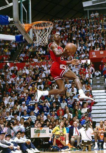 Michael Jordan during the 1987 Slam Dunk Contest http://t.co/RnXWEY6df9