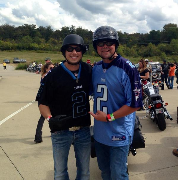 Rode in honor of my brother @RobBironas today w/ @stormewarren @DierksBentley @DavidTolliver  #MilesAndMusic http://t.co/9xZJar9R7H
