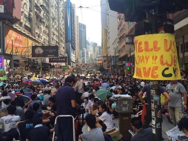 #HongKong protesters shut down the one off most expensive shopping districts in the world...& the highways  #hk929 http://t.co/MPMgojuSee