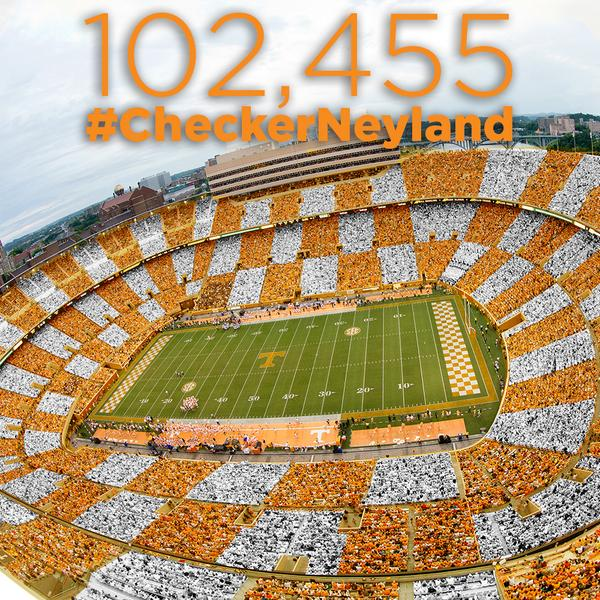 Saturday's game is officially SOLD OUT! 102,455 #CheckerNeyland http://t.co/wYs2IgRUSO