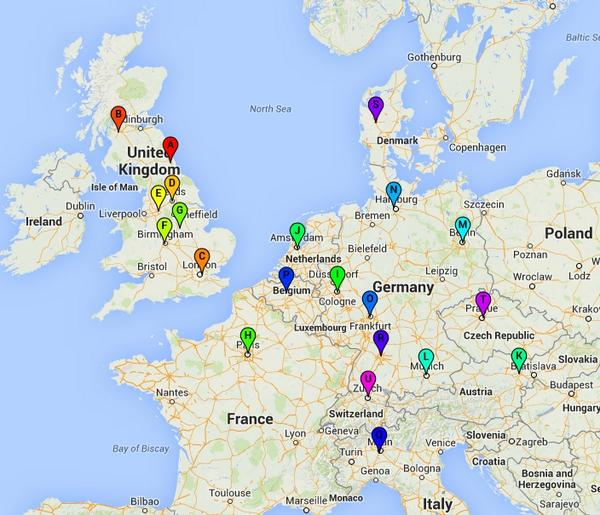 Just made a quick map of QUEEN + ADAM LAMBERT - UK and EUROPE TOUR 2015 https://t.co/o7EIcmiAMU (may not be accurate) http://t.co/YTn8TeAkwE