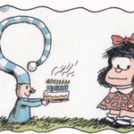 RT @MafaldaDigital: Gracias @porliniers por el bello regalo y tus palabras en @Rock_and_Pop un honor :D #mafaldacumple50 https://t.co/9RCYm01byd