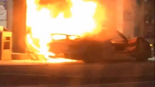 WATCH: @MWekerle's rare Porsche 918 catches fire, but don't worry, he's okay! http://t.co/Jj0nDC9cTP #cbcdragonsden http://t.co/jIoiGyQcag