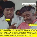 Haha. Stalin - Karunanithi | Pannerselavm - Jayalalithaa | all matrix explained in one picture. LMAO!! http://t.co/55g2Wrd5Ha