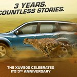 The XUV500 celebrates its 3rd anniversary. Thank you for your support! http://t.co/LCyMsqEkC4