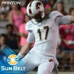 Congratulations to K/P Justin Manton of @ULM_FB, the Sun Belt Football Special Teams Player of the Week! #FunBelt http://t.co/QdhbHztUk2