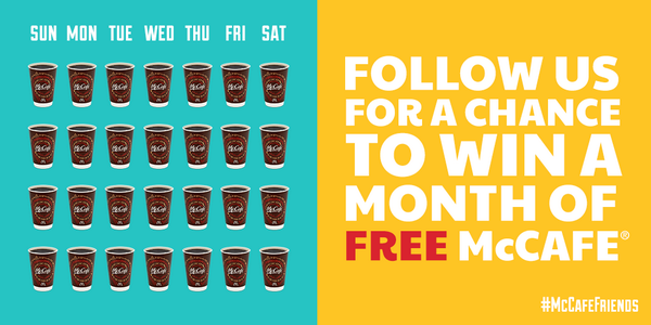 We're celebrating #CoffeeDay by showing love to our #McCafeFriends all year long! Rules: http://t.co/YFHTMHR2dA http://t.co/x9yFPk1Xhy