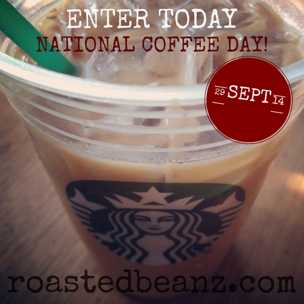 Get your #NationalCoffeeDay on & enter to WIN one of 5 #Starbucks gift cards! ☕️ http://t.co/vCrNY29n8Q #CoffeeDay http://t.co/h6PyXbnIMS