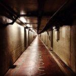 川崎の最恐スポット、海底人道トンネル。海の底の閉塞感に加え、「ココハ歩行者専用通路デス。自転車は降リ…