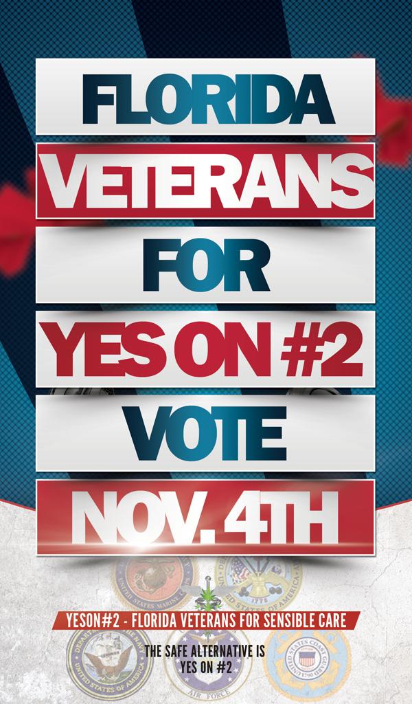 Florida #Veterans for #YesOn2 ----November 4th @Cacoteo @CacoteoRadio @UnitedForCare @JohnMorganESQ @MedMarijuana_FL http://t.co/vo8Oo2CXUy