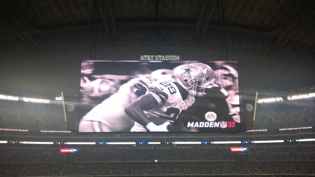 Jerry World Screen Last Night at Jerry World
