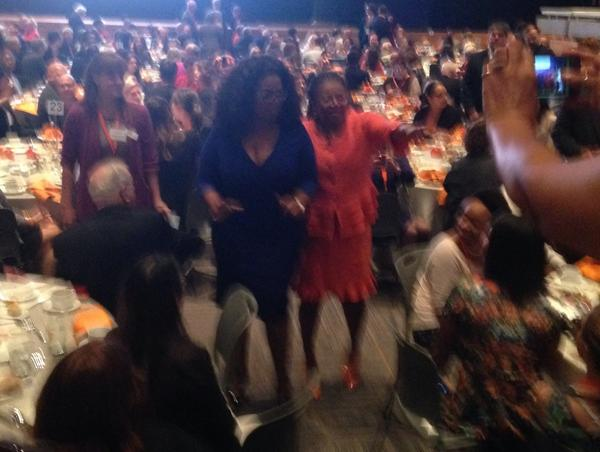 #Oprah walking the floor with Dean @lbranham #NewhouseStudio http://t.co/5Zpo8L9PWe