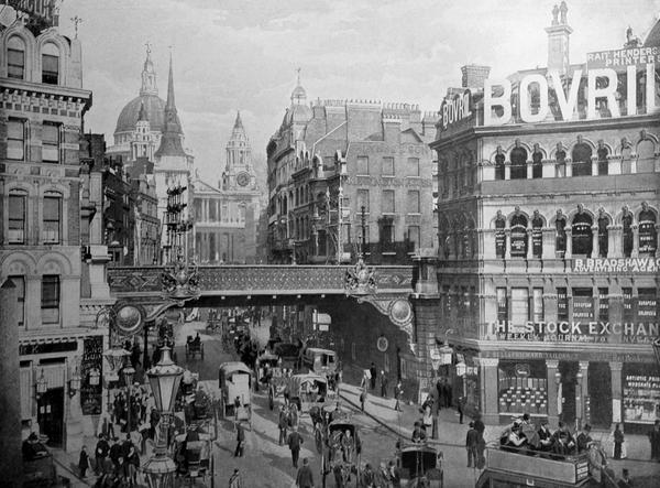 Ludgate Circus 1896. St Paul's in the east and the Stock Exchange on the right. http://t.co/67TNZhakEo