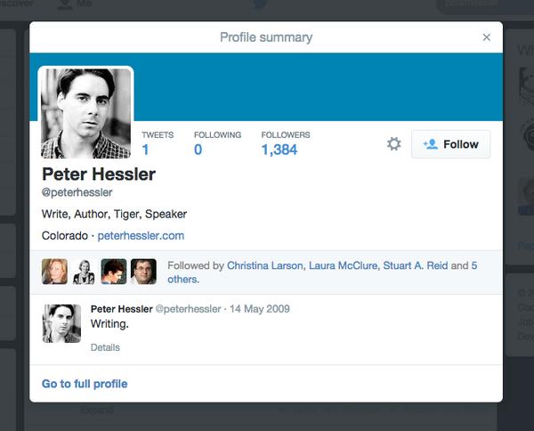 No writer has ever won at Twitter quite like @peterhessler. http://t.co/vSRex2GRIK