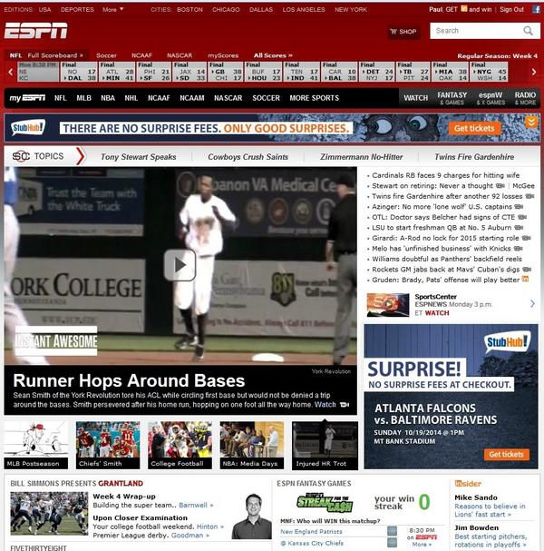 Three days later, and still on the front page of @ESPN.com. #YorkRevs #RevsMagic @smitty_281 http://t.co/EUCYOaTaSZ
