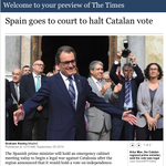"RT @XavierAntich: THE TIMES: ""A legal war against Catalonia"" [=Una guerra legal contra Catalunya] http://t.co/cs6P4ku9qN http://t.co/vzN8gSd7iZ"