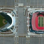 """""""@KCMO: Awesome overhead photo from @stadiumpix of #TheK and #Arrowhead: https://t.co/fw2CMDs51V #Chiefs #Royals"""""""