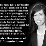 .@jrosenworcel thank you for listening to the publics call for real #netneutrality. Please continue to speak up!  https://t.co/EhPEE4E6SB