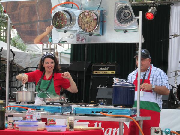 @JoeyRussojr Grazie for judging gravy/sauce contest - terrific food family & friends @ San Gennaro. A Prossima volta http://t.co/dzbfwhamV7