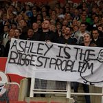 """Ashley Is The Biggest Problem"" banner #Newcastle #Stoke http://t.co/teivvLAS3R"
