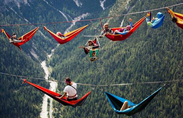 Highliners take a hammock break in the Italian Alps: http://t.co/9KsFmkj48E