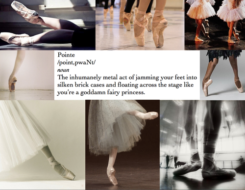 "The definition of ""pointe"" #BalletHumor http://t.co/9KupmObliA"