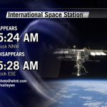 RT @simpsonwhnt: Clear overnight, good viewing for the ISS *EARLY* Tuesday morning #valleywx #Huntsville http://t.co/TO4PNaVlKP