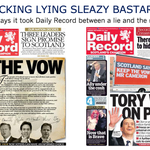 No wonder the @Daily_Record are finished in Scotland. Puppeteered by Trinity Mirror Group based in London. http://t.co/t4on5vvDtQ