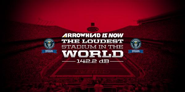It's official! 142.2 is a new @GWR record.  #ChiefsKingdom #LoudAndProud http://t.co/NU25z3QIWf