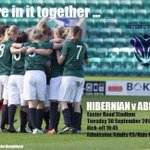Enjoy the Hibs win last night? Then get yourelf down to ER tonight and support @HibsLadies V @afcladies1 #Hibees http://t.co/Ng1KMpKX4a