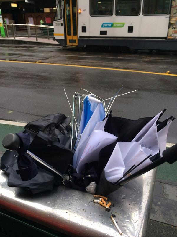 Bad day for umbrellas in Melbourne http://t.co/WAR8PLHblU