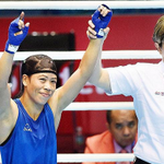 All eyes on #MaryKom Defeated #Vietnam 3-0 in their Flyweight (48-51kg) #semifinals to reach the #gold medal match http://t.co/7taHsLootL