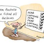 """RT @clareraffan: """"@mdavidcartoons: Team Australia ticks all the boxes #auspol http://t.co/Jj5mavCt6n"""" Fear & Loathing in Aus Vegas."""