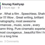 RT @Shahid_Loverz: #Haider Review by #Anurag Kashyap after watching Haider last night at the screenings ! http://t.co/OzHhTI1hMf