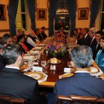 At the dining table. Prez @BarackObama & PM @narendramodi discuss opportunities of working together. http://t.co/4UVoYtLHwk
