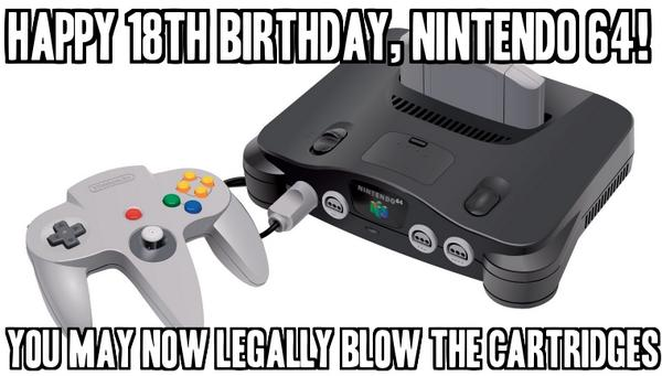 Happy Birthday, Nintendo 64! http://t.co/uMCfuKutlJ