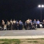 Tension is HIGH. No matter what Capt Johnson is saying. Hes saying they want peace, but look at his ppl #FERGUSON http://t.co/7qX49ZwHzo