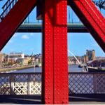 Left leg in Newcastle, right leg in Gateshead. #gateshead #newcastle #newcastlegateshead #nefollowers #harryworth http://t.co/rxKx6Kvcmq