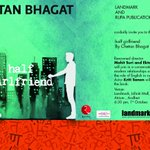 Invitation to the biggest #bookrelease of 2014 #halfgirlfriend @chetan_bhagat with @mohit11481 @Ekkubaby @kritisanon http://t.co/DtBrp8o5i8