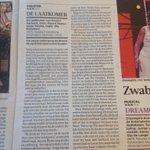 RT @NNTWEE: En de @volkskrant geeft er drie. *** #sterren Voor De laatkomer. @nntgroningen @Stadsschouwburg #recensie http://t.co/7DrGV2v7NN