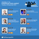 RT @Europarl_EN: Who will be questioned by MEPs during the 2nd day of #EPhearings2014? Check here http://t.co/Rv34ZJeelD http://t.co/OxiZEk9bpT