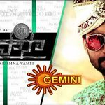 RT @sillijo: Watch Krishnavamsi's #PAISA Tomorrow @ 8.45am. *ing @NameisNani , Catherine & Ohters. on #GeminiTV