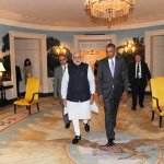 PM MODI and President Obama at the dinner hosted in his honor, at the White House. #ModiInAmerica #ModiMeetsObama http://t.co/xFm2aXimqg